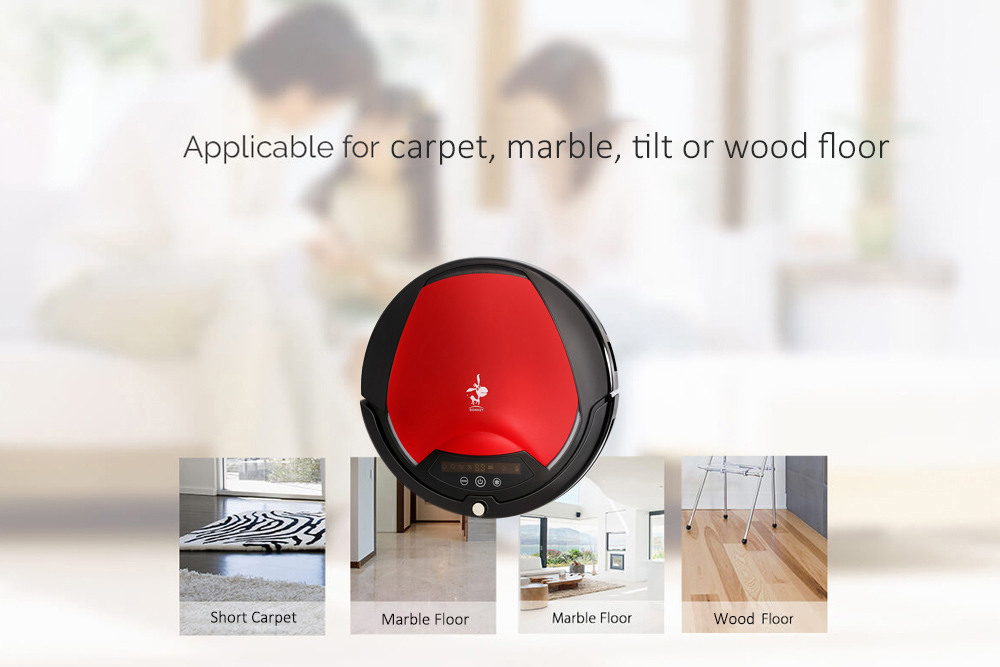 Donkey E1 Plus Smart Robotic Vacuum Cleaner Dry Sweeper Machine Dustbin Indicator