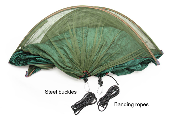2-Person Camping Anti-mosquito Parachute Nylon Hammock with 200KG Loading