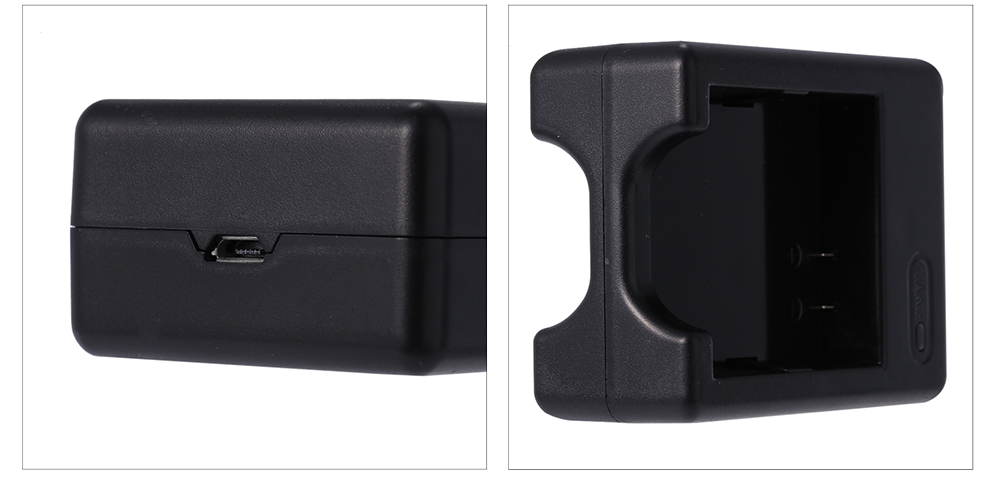 SMACO Dual Charger Battery Charging Dock for Xiaomi Yi II 4K Action Camera 5V 2A Input