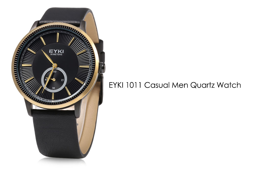 EYKI 1011 Nail Scale Casual Quartz Watch with Small Dial for Men