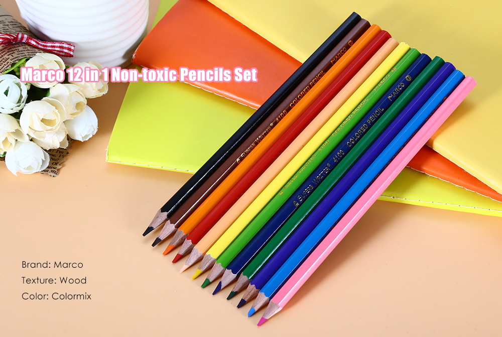 Marco 12 in 1 Non-toxic Pencils for Painting