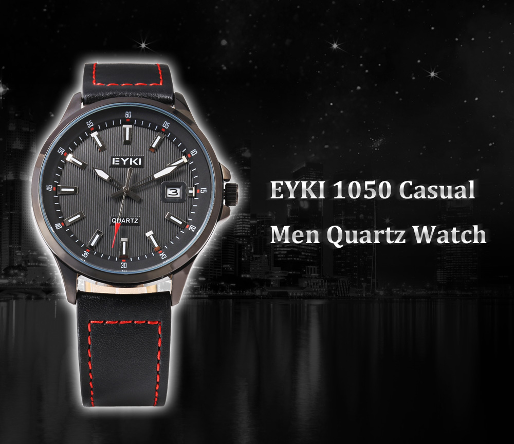 EYKI 1050 Casual Male Quartz Watch with Hollow-out Pointer