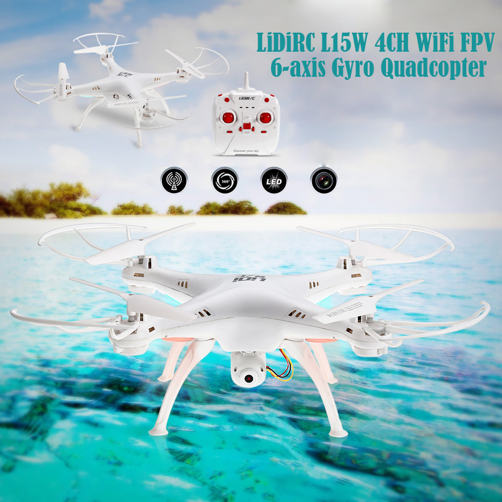 LiDiRC L15W 4CH HD CAM WiFi FPV 2.4G 6-axis Gyro Quadcopter with Speed Switch / Air Press Altitude Hold