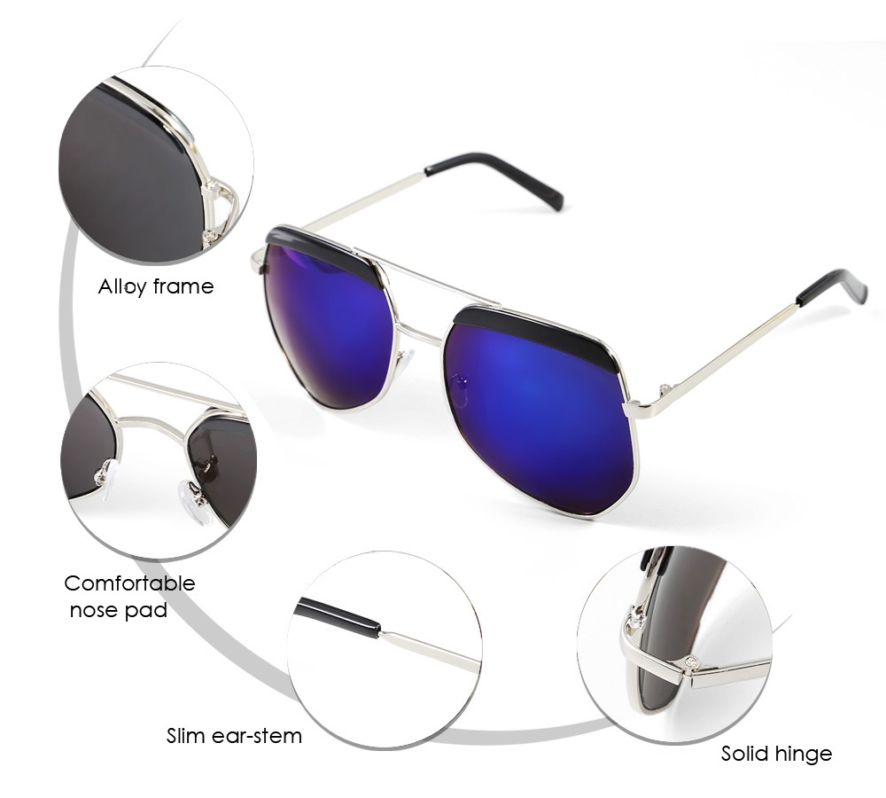 Unisex Polarized Sunglasses with Alloy Frame / Resin Lens