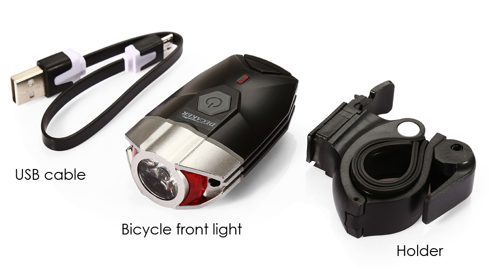 DECAKER 2269 300LM 5W LED 4 Modes Bicycle Front Light