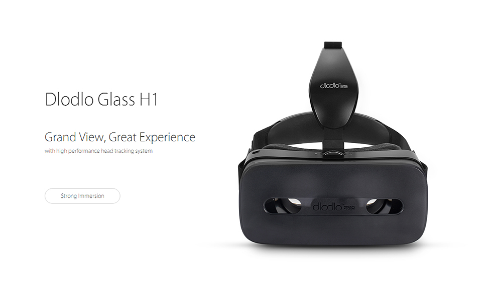 Dlodlo Glass H1 3D VR Virtual Reality Headset with USB Port Touch Pad for 5.0 - 6.0 inch Android Smartphone Built-in 9-axis Sensor