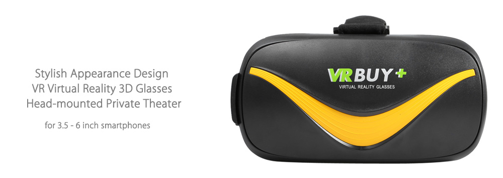 VR BUY+ Virtual Reality 3D Glasses Bluetooth 4.0 Max 90 Degrees FOV for 3.5 - 6 inch Mobile Phone