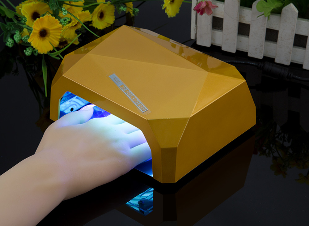 LED Phototherapy Machine 36W Manicure Diamond Shape Lamp