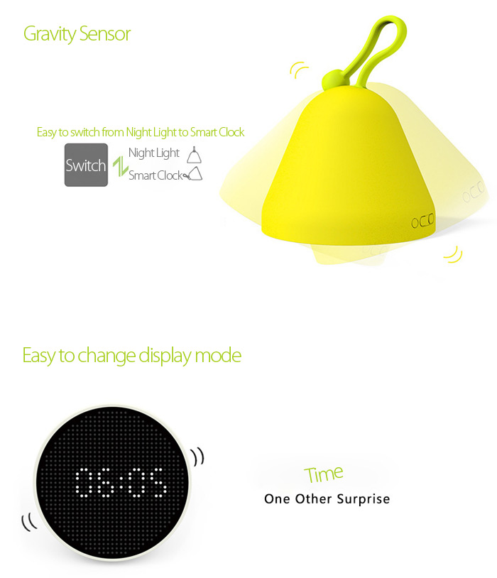 Stylepie FUN-FUN Versatile LED Night Light Alarm Temperature Humidity Display