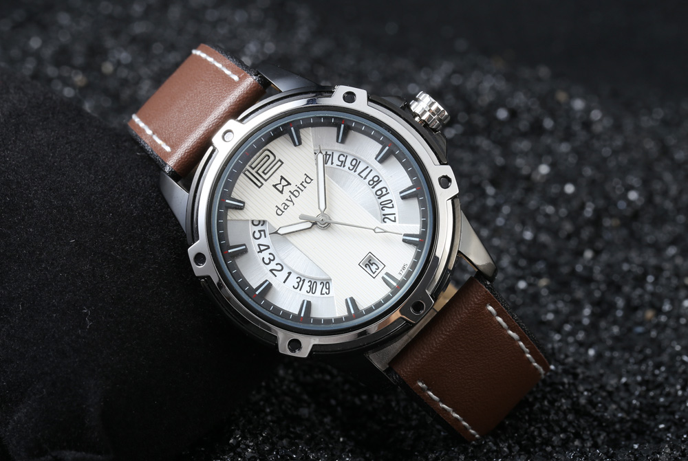 daybird 3785 Fashion Hollow-out Calendar Ring Male Quartz Watch