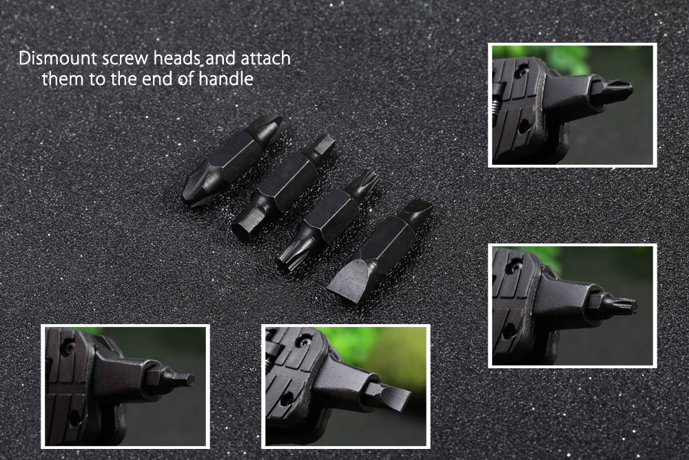 Multifunctional Liner Lock LED Folding Knife with Screw Heads