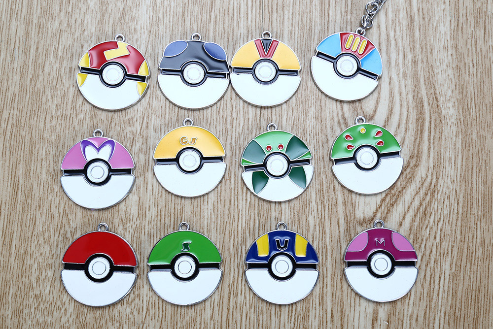 Movie Product Children Key Chain Gift Decor with 12pcs Alloy Badge
