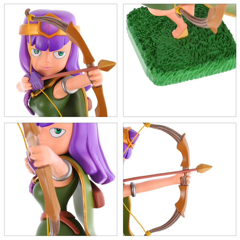 COC 16cm High Queen Figure MMORPG Video Game Model Collection Table Decor Gift for Game Players Fan