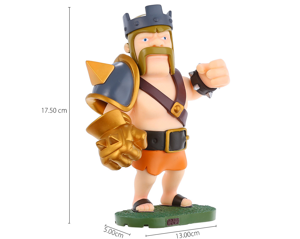 COC 17.5cm High King Figure MMORPG Video Game Model Collection Table Decor Gift for Game Players Fan