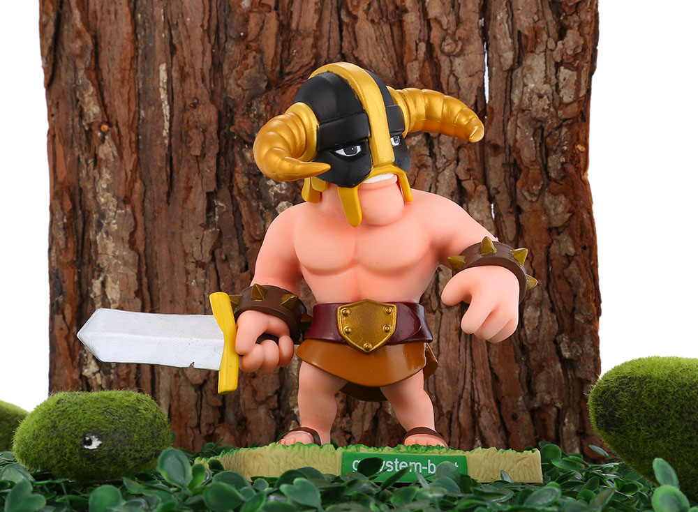 COC 15cm High Barbarian Figure MMORPG Video Game Model Collection Table Decor Gift for Game Players Fan