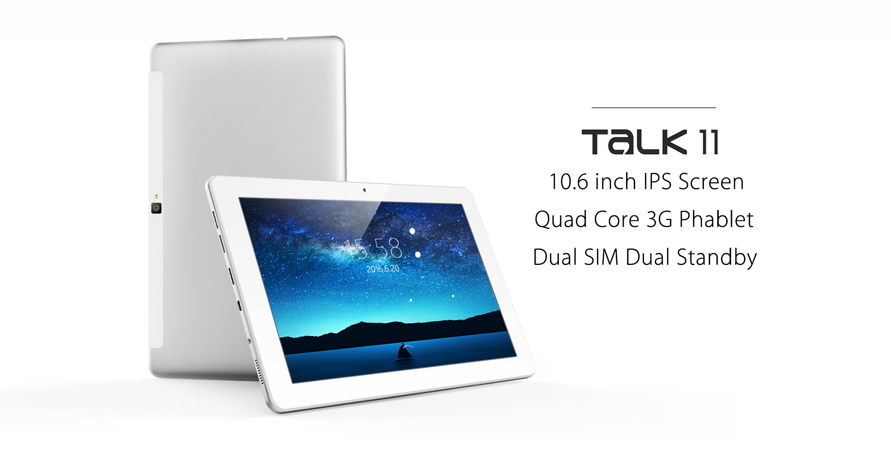 Cube Talk 11 3G 10.6 inch Android 5.1 Phone Tablet PC MTK8321 Quad Core 1.3GHz IPS Screen 1GB RAM 16GB ROM Bluetooth 4.0