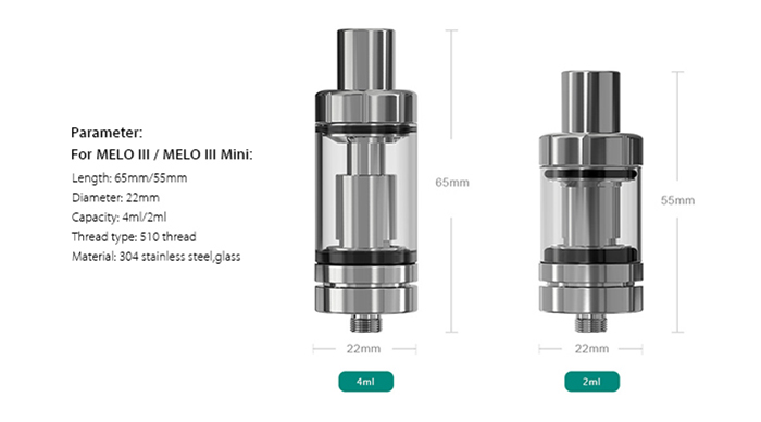 Original Eleaf iStick Pico Mega TC 80W Mod Kit with Smart / VW / Bypass / TC Modes / Upgradable Firmware Box Mod / Invisible Airflow Control 4.0ml MELO III Atomizer