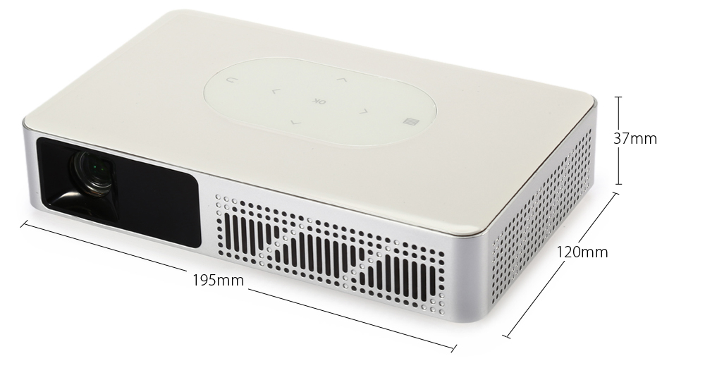 Y - 9 DLP 3D Projector Android 4.4 Smart TV Box 3000Lm 1280 x 800 Pixels 1080P Home Theater Support WiFi Bluetooth 4.0