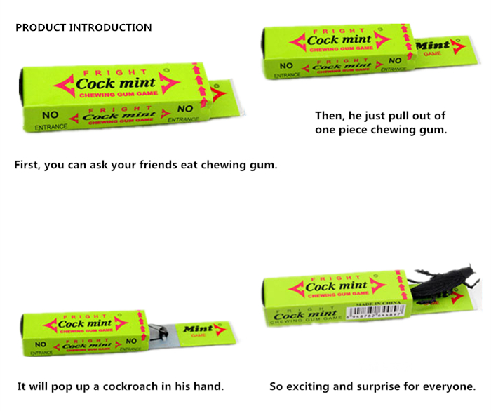Chewing Gum Cockroach Tricky Joke Toy for Birthday Gift Halloween