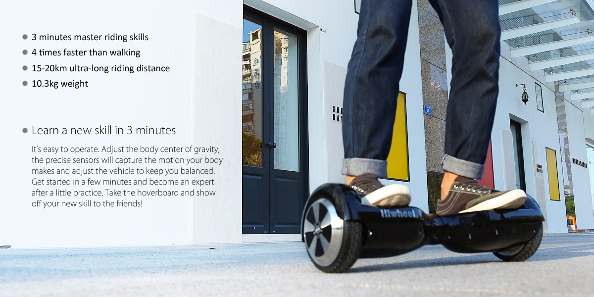 Hiwheel Q3 6.5 Inch Intelligent 2 Wheels Self Balancing Scooter Hoverboard 15 - 20km Mileage