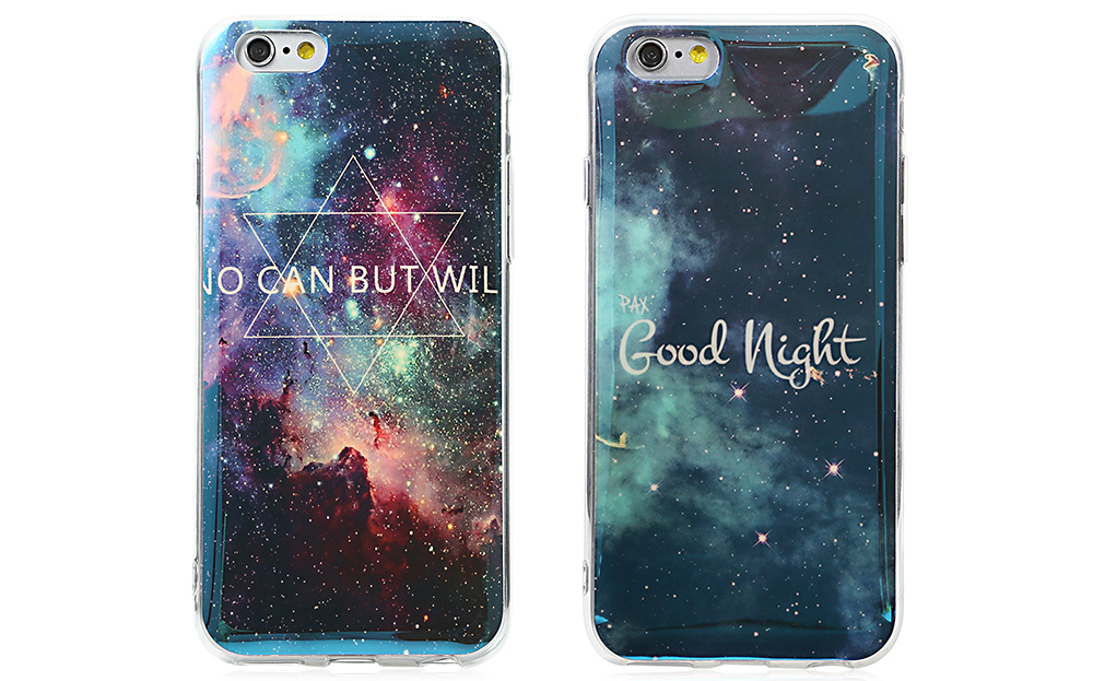 Protective TPU Soft Phone Back Case for iPhone 6 / 6S Ultra-thin Mobile Shell with Night Sky Design