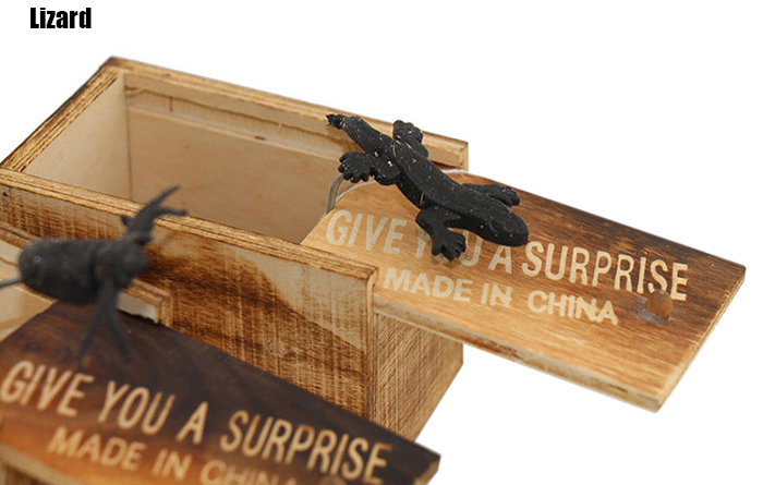 Novelty Wooden Box Insect Tricky Joke Toy for Halloween Birthday Gift