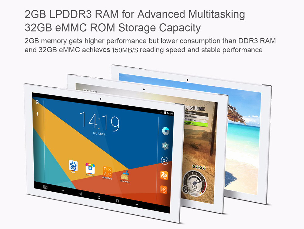 Teclast X10 Plus 2 in 1 Tablet PC 10.1 inch Android 5.1 IPS Screen Intel Cherry Trail Z8300 64bit Quad Core 1.44GHz 2GB RAM 32GB ROM Cameras Bluetooth 4.0