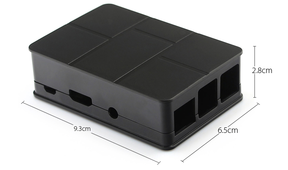 ABS Enclosure Case for Raspberry Pi 3 Model B with Heat Sink / Screwdriver