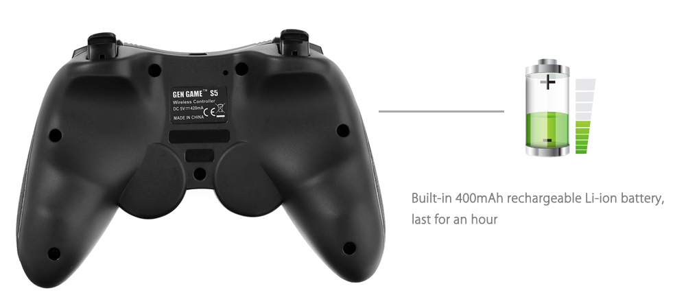 S5 Wireless Bluetooth Gamepad Game Controller Support for Windows