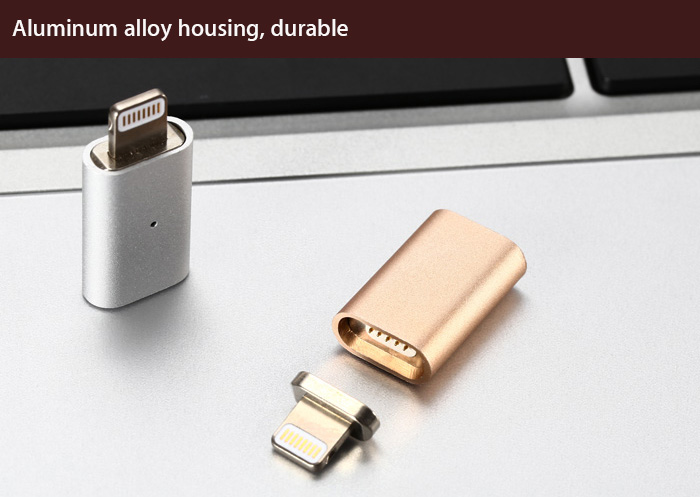 Magnetic 8 Pin USB Data Transfer and Charging Adapter