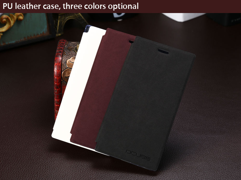 OCUBE PU Leather Full Body Phone Protective Case with Foldable Stand for Doogee Y300