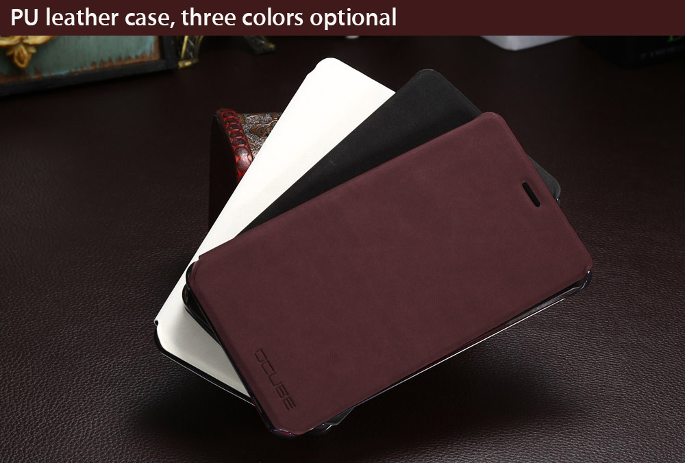 OCUBE PU Leather Full Body Phone Protective Case with Foldable Stand for LEAGOO Shark1