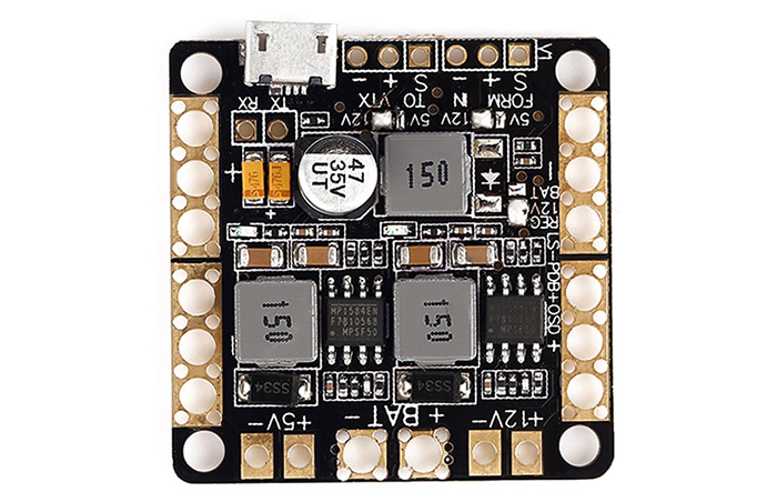 Power Distribution Board with 5V 12V BEC OSD Module for CC3D / NAZE32 / F3 Flight Controller