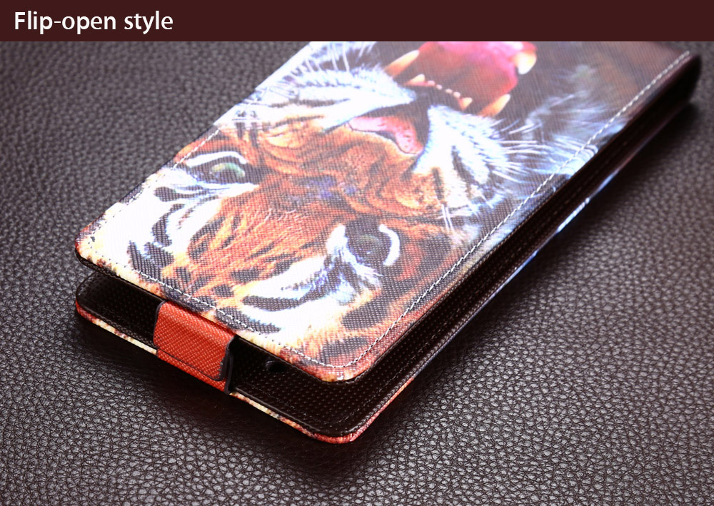 PU Leather Protective Full Body Flip-open Case for UMI Super with Printing Pattern