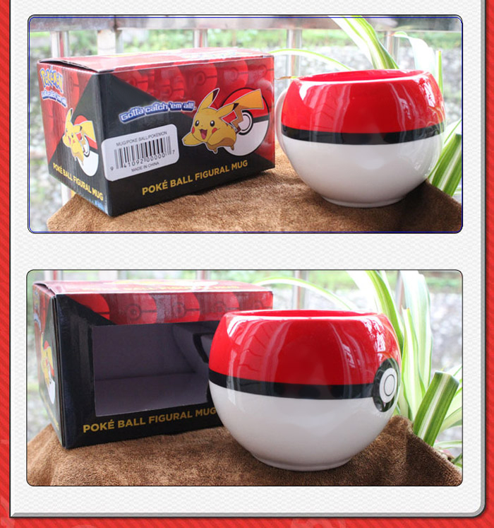 Anime Cosplay Cup Poke Ball Bottle Cute Cos Gift