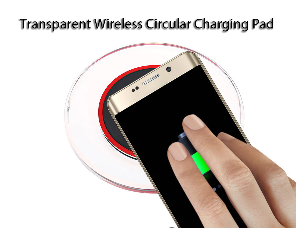 Qi Enabled Devices Transparent Border Wireless Charger Pad
