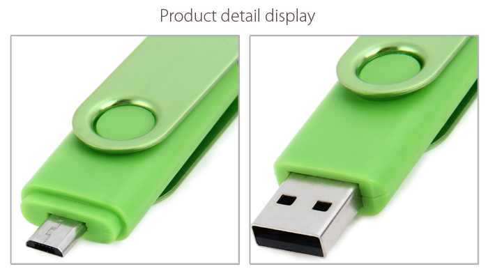 2 in 1 16GB OTG USB 2.0 Flash Drive for Laptop / Smart Phone / PC / Mac / Notebook etc.