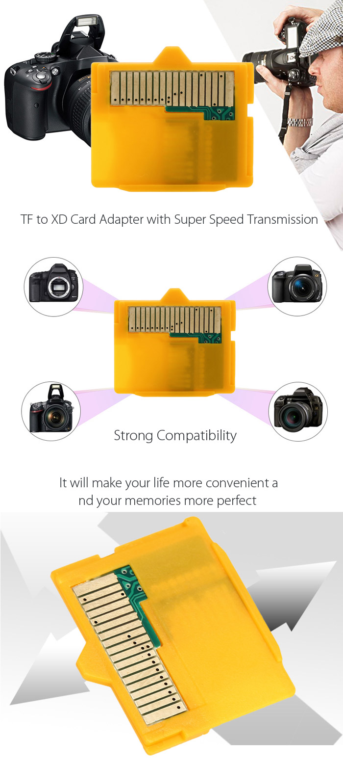 TF to XD Card Adapter with Super Speed Transmission