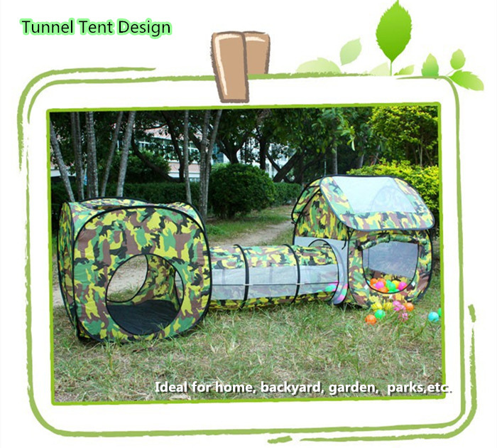Kid Baby Tunnel Playhouse Game Tent House Outdoor Indoor Sport Toy