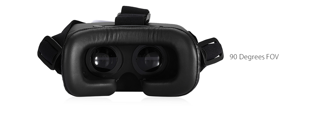 VR Happy V5 3D Glasses Virtual Reality Headset Private Theater Game Video Magnet Ring for 3.5 - 5.5 inch Smartphone