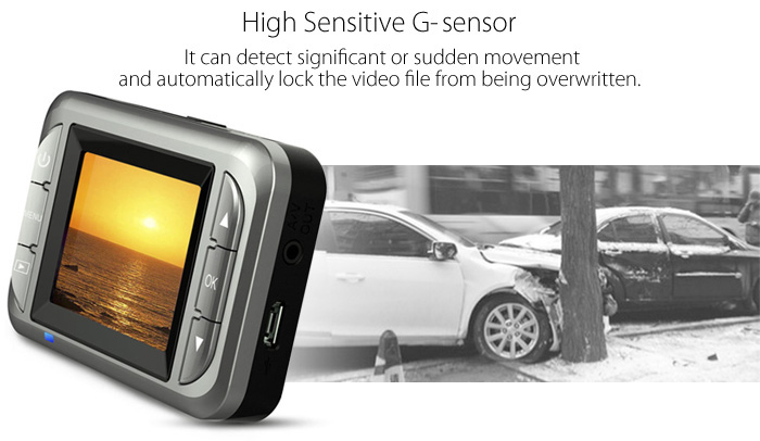 MG288 High-definition 2 inch Vehicle DVR G-sensor 32GB TF Card Loop Recording CMOS Image Sensor Super Capacitor