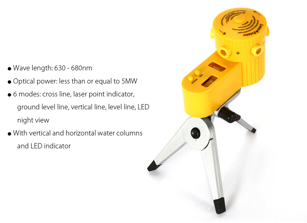 Portable 50MW Laser Level with Tripod for Construction / Remodeling
