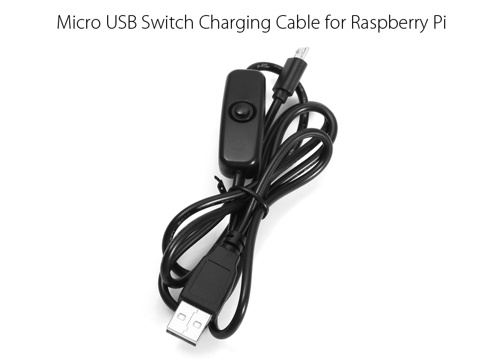 100cm 2A Micro USB Power Supply Charging Cable with On / Off Switch for Raspberry Pi Models