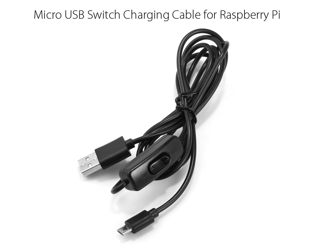150cm 5V 2A Micro USB Power Supply Charging Cable with On / Off Switch for Raspberry Pi Models