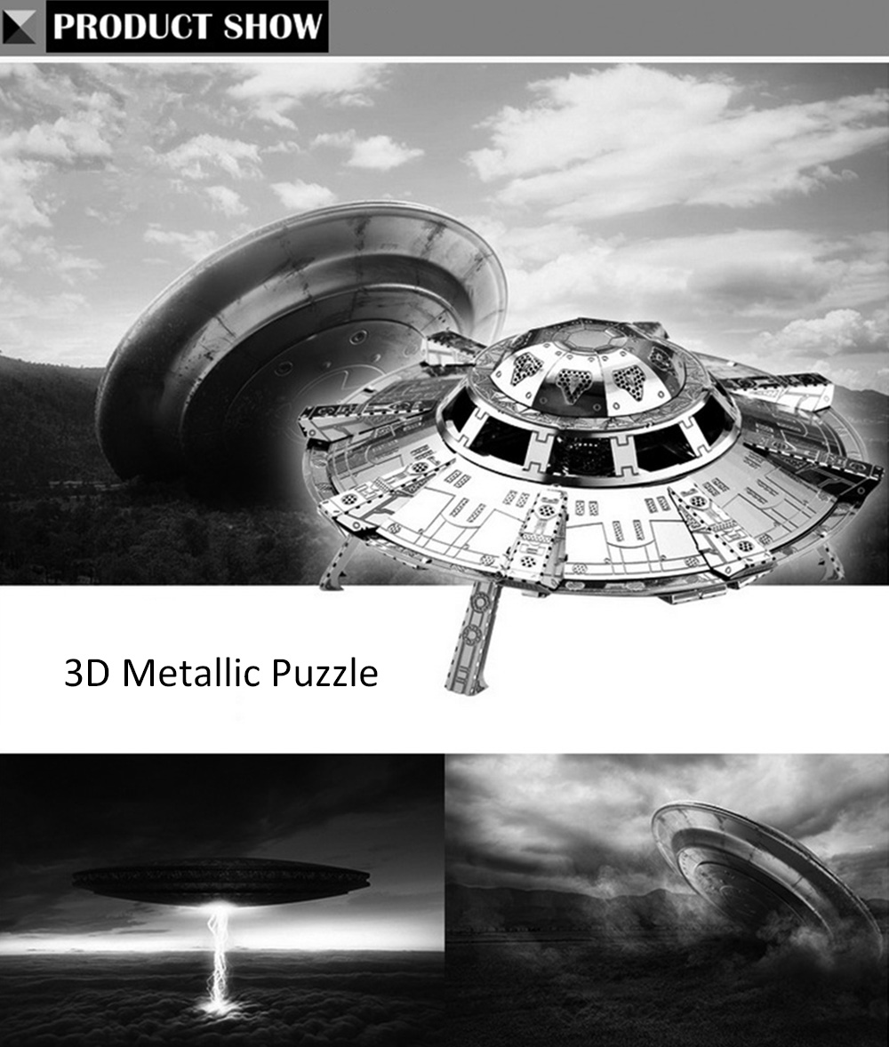 ZOYO 3D Metal Spaceship Style Metallic Building Puzzle Educational Assembling Toy