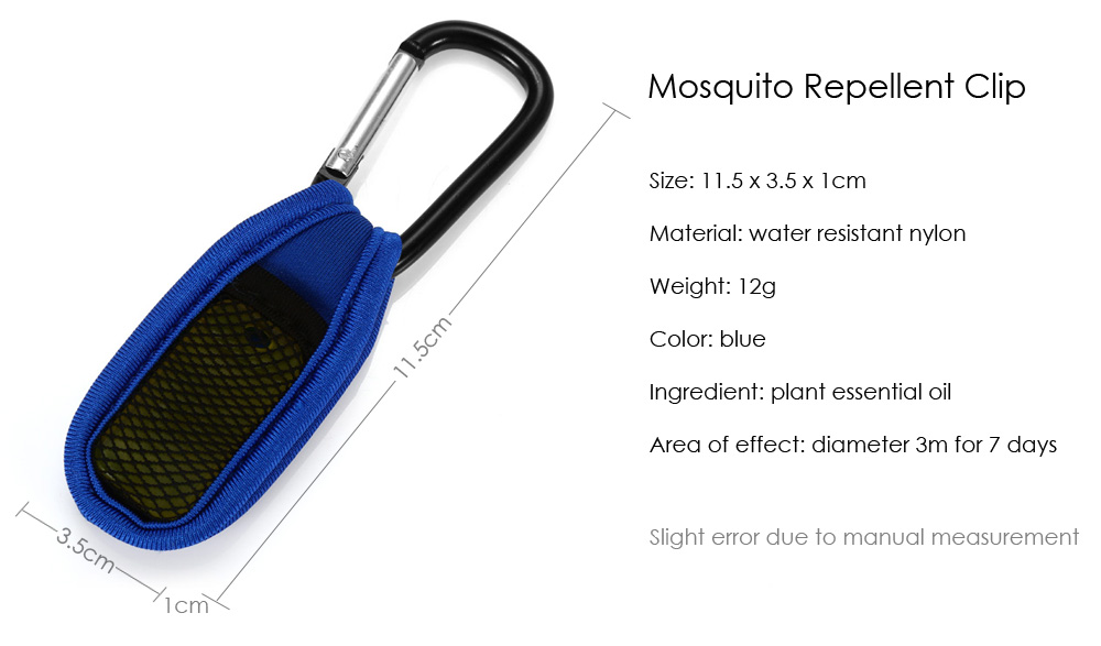 Replaceable Summer Mosquito Repellent Clip
