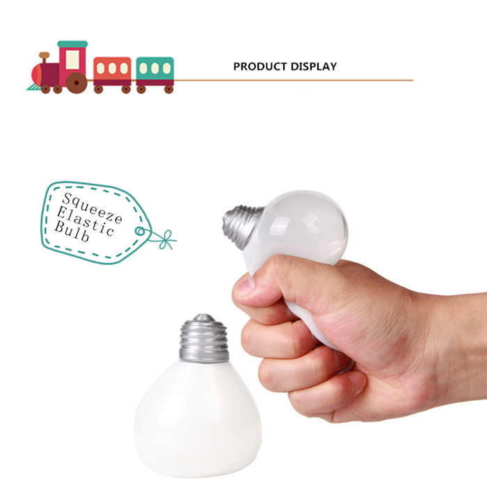 Novelty Elastic Squeeze Bulb Shape Stress Release Vent Relax Toy for Kid