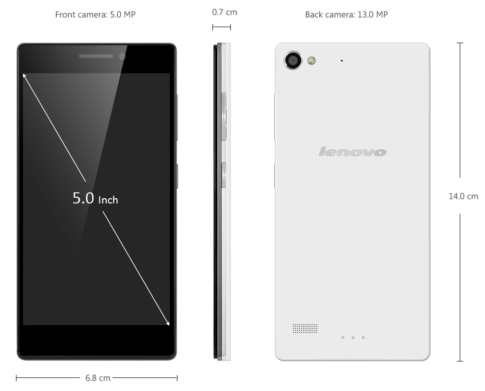 Lenovo X2-CU Android 4.4 5.0 inch 3G Smartphone MTK6595 Octa Core 2.0GHz 2GB RAM 32GB ROM 13.0MP Rear Camera GPS