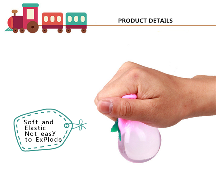 1pc Funny Elastic Squeeze Strawberry Shape Stress Release Vent Relax Toy for Kid