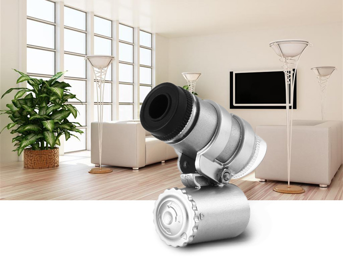 2 in 1 45X Magnifier / Currency Detector Loupe Magnified Tool with LED / UV Light
